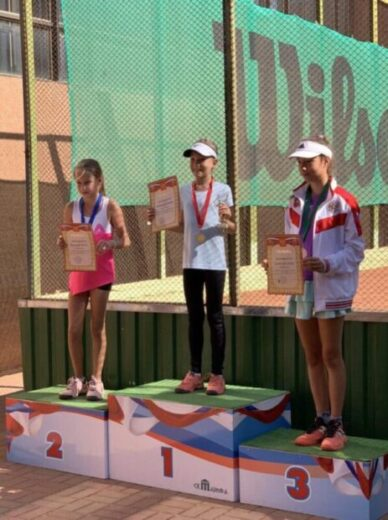 Клебанова Ксения - 1 место на Кубке Крыма по теннису