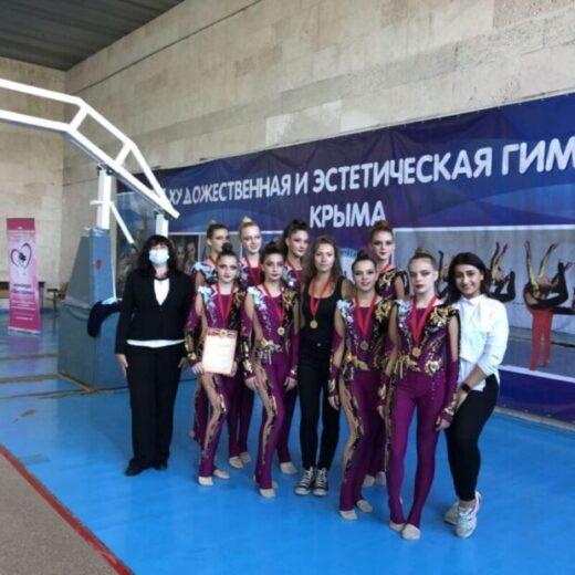 Наши гимнастки привезли из Симферополя две золотых медали