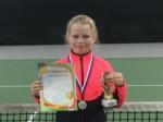 Воспитанница отделения тенниса вернулась из Воронежа с серебряной медалью