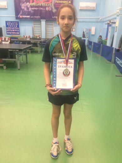 Воспитанники отделения настольного тенниса завоевали 5 медалей на Первенстве Крыма