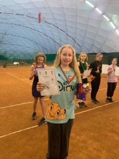 Иванова Дарья, г. Ялта - 1 место на турнире по теннису в Минске